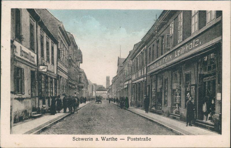 Postcard Schwerin an der Warthe Skwierzyna Poststraße 1928