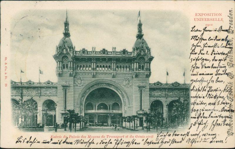 CPA Paris Palais des Moyens de Transport - EXPO 1900