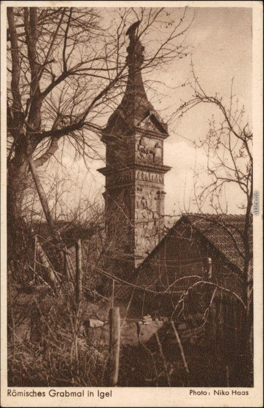 Ansichtskarte Igel (Mosel) Igeler Säule, Römisches Grabmal 1940