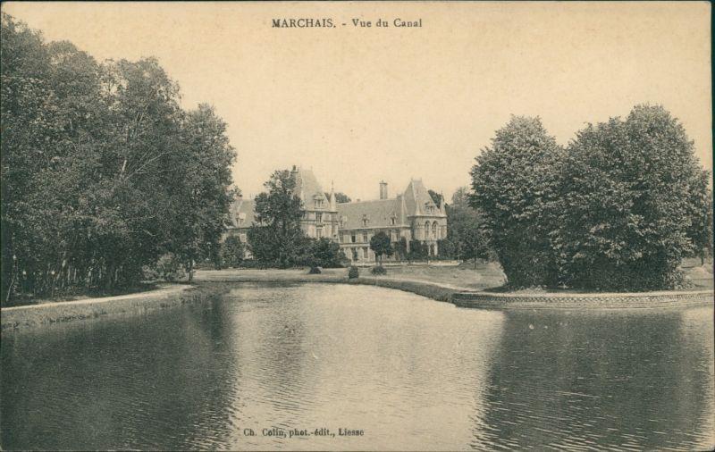 CPA Marchais Vue du Canal 1908