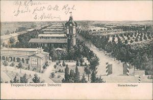 Ansichtskarte Dallgow-Döberitz Truppenübungsplatz - Barackenlager 1913