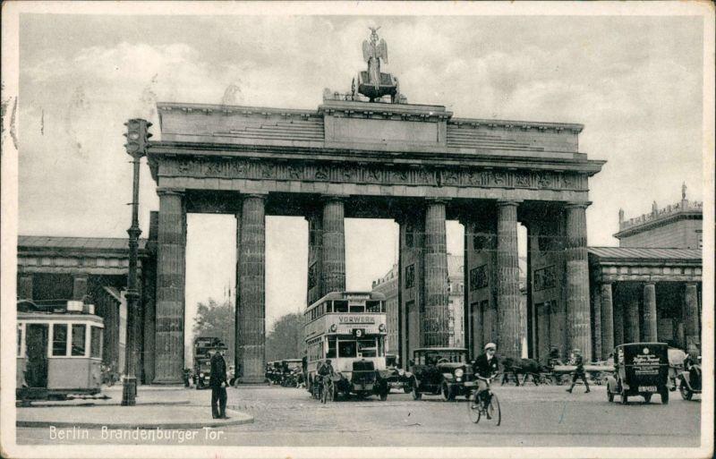 Ansichtskarte Mitte-Berlin Brandenburger Tor g1931
