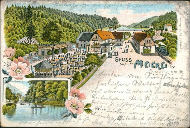 Ansichtskarte Oberlößnitz-Radebeul 2 Bild: Litho Meierei 1906