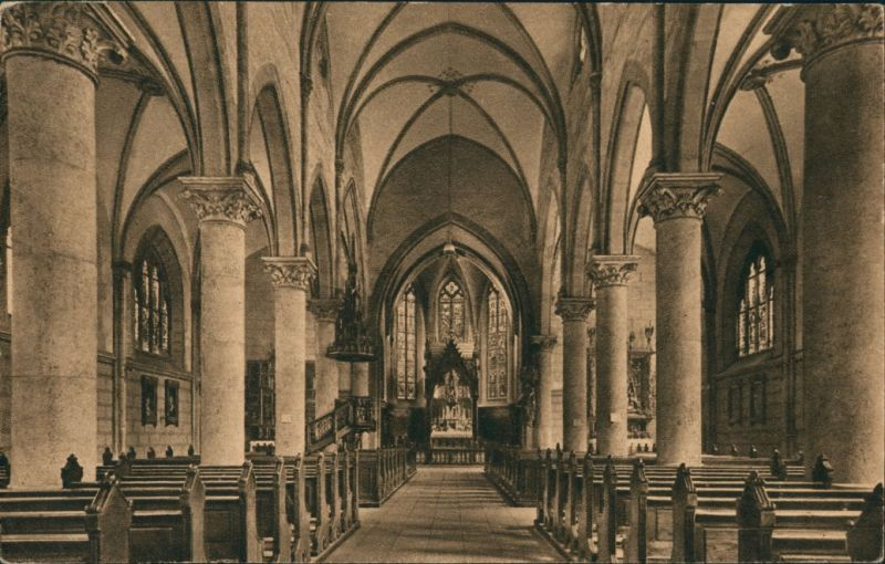 Ansichtskarte Nürnberg Inneres Der Herz Jesu Kirche 1912 Nr 138008