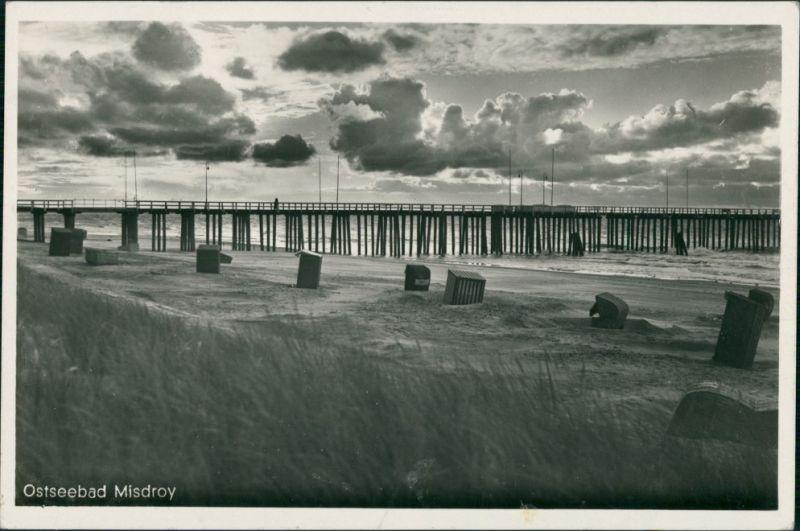 Postcard Misdroy Międzyzdroje Seebrücke - Stimmungsbild 1932