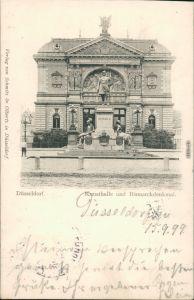 Ansichtskarte Düsseldorf Kunsthalle und Bismarckdenkaml 1899
