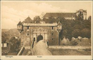 Ansichtskarte Tübingen Partie am Burgthor 1922