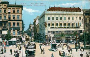 Ansichtskarte Mitte-Berlin Unter den Linden, Friedrichstraße 1913