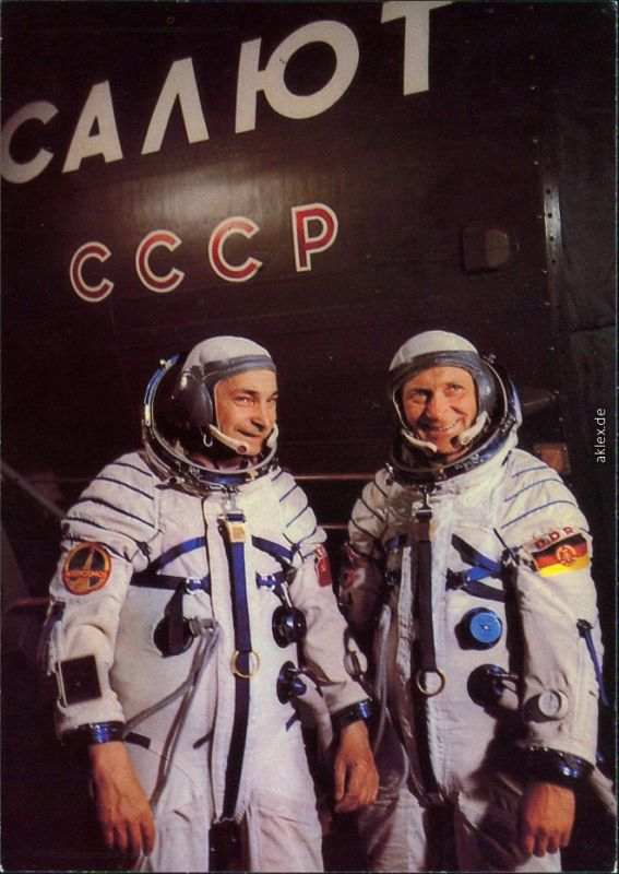 Gemeinsamer Kosmosflug UdSSR/DDR: Waleri Bykowski und Sigmund Jähn 1980
