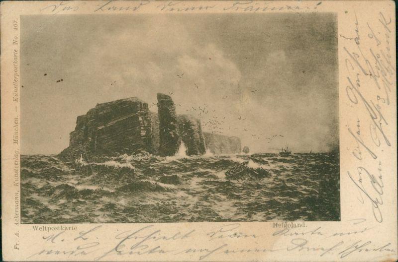 Ansichtskarte Helgoland (Insel) Helgoland 1898