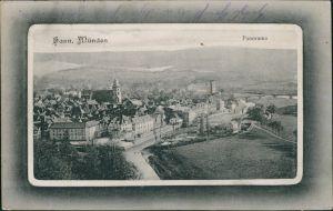 Hannoversch Münden Hann. Münden Passepartout - Blick auf die Stadt 1912
