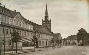 Postcard Neudamm (Neumark) Dębno Gasthaus - Marktplatz 1929