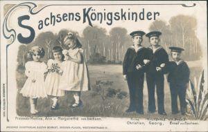 Sachsens Königskinder: Monica,  Margarethe, Christian, Georg, Ernst    1905