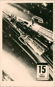 Ansichtskarte  Sputnik 3 - 15.05.1958 Erdumkreisung, Raumfahrt 1961