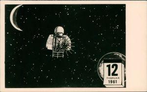 Ansichtskarte  Sputnik Sonde zur Venus, Raumfahrt 1961