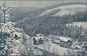 WaldbärenburgbAltenberg (Erzgebirge) Winter Bärenburg: Hotel Schäfermühle 1914