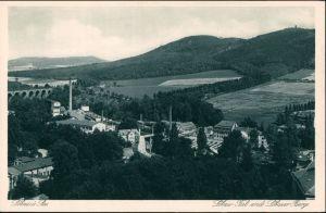 Ansichtskarte Löbau Löbau-Tal und Löbauer Berg 1925