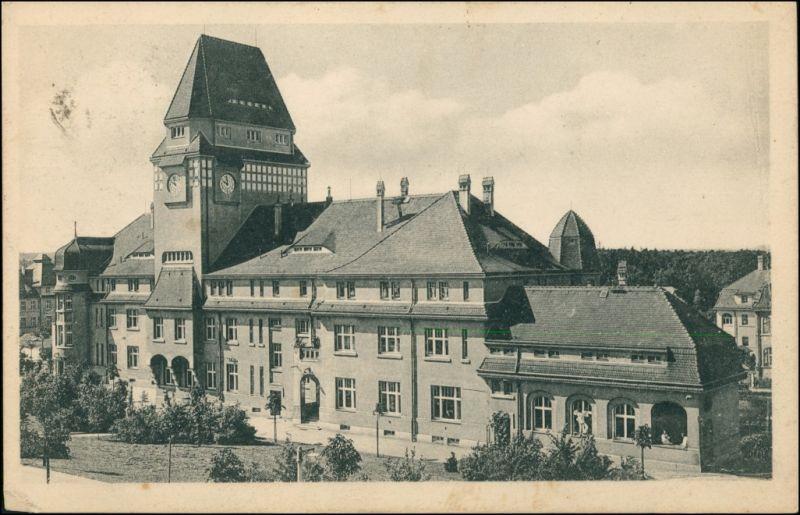 Ansichtskarte Arnsdorf (Sachsen) Kgl. Landesanstalt, Verwaltungsgebäude 1919