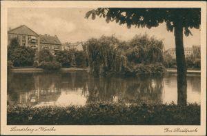 Postcard Landsberg (Warthe) Gorzów Wielkopolski Im Stadtpark 1928