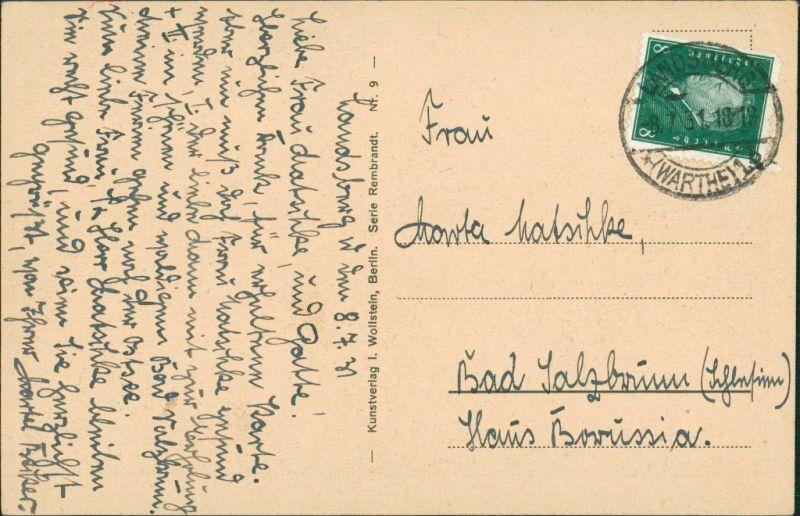 Postcard Landsberg (Warthe) Gorzów Wielkopolski Im Stadtpark 1928  1
