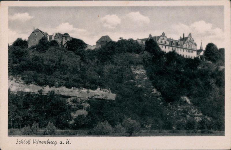 Ansichtskarte Vitzenburg-Querfurt Schloss Vitzenburg a. U. 1939
