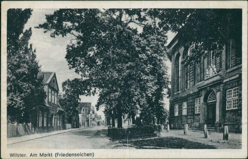 Ansichtskarte Wilster Am Markt (Friedenseichen) 1938