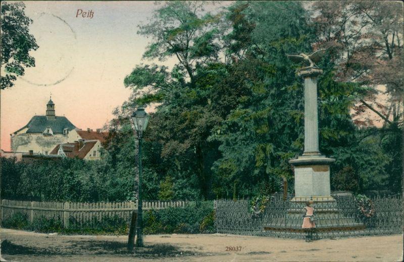 Ansichtskarte Peitz Picnjo Straße - Kriegerdenkmal 1913