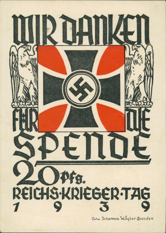 Ansichtskarte  Propaganda AK: Reichskrieger Tag 1939
