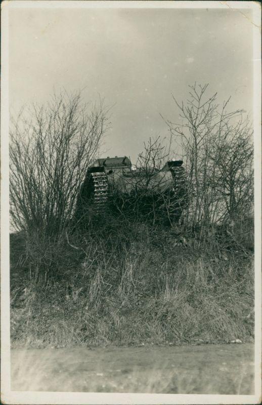 Foto  Privatfotokarte: Panzer im Manöver 1936 Privatfoto