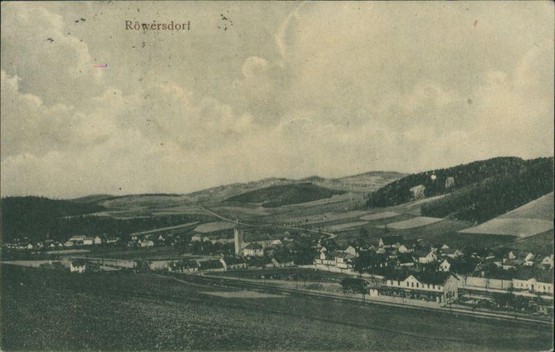 Postcard Röwersdorf (Třemešná) Stadt und Bahnhof 1914