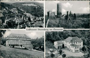 Stromberg (Hunsrück) Luftbild, Fustenburg, Hotel - Kurhaus, Jugendherberge 1956