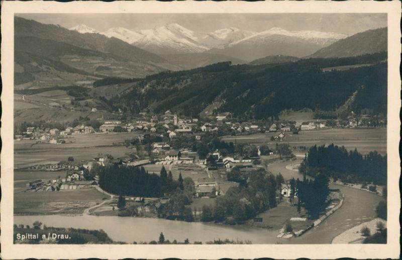 Ansichtskarte Spittal an der Drau Panorama-Ansicht 1932