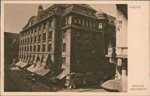 Ansichtskarte Leipzig Partie am Meßhaus Handelshof 1924
