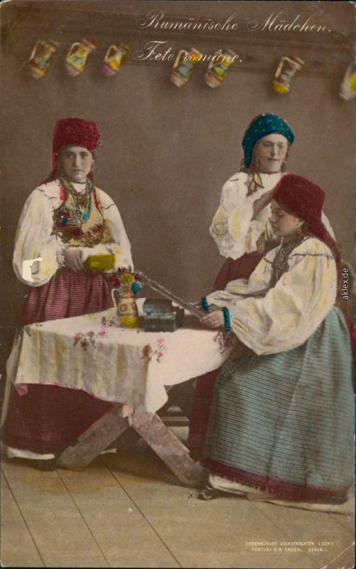 Rumänien  România Trachten/Typen Rumänien - Siebenbürgen Volkstrachten 1914
