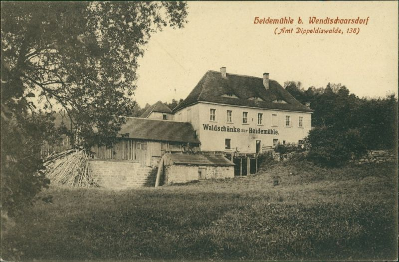Karsdorf (ehemals Wendisch-Carsdorf)-Rabenau Gatshaus Heidemühle 1911