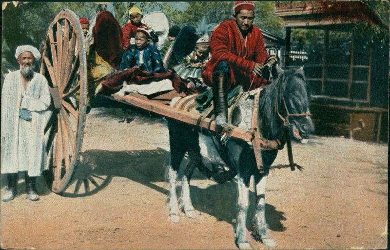 Postcard .Russland Russsiche Typen Zentral-Asien 1917
