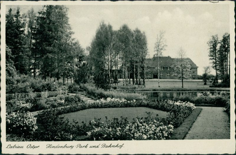 Labiau Polessk Labiawa/Labiewo Полесск Hindenburg Park Bahnhof Ostpreußen 1932