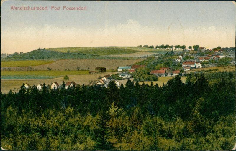 Karsdorf (ehemals Wendisch-Carsdorf)-Rabenau Blick auf die Stadt 1926