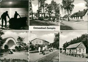 Ansichtskarte Zempin Fischer, Waldstraße, Erholungsheim, Campingplatz 1981