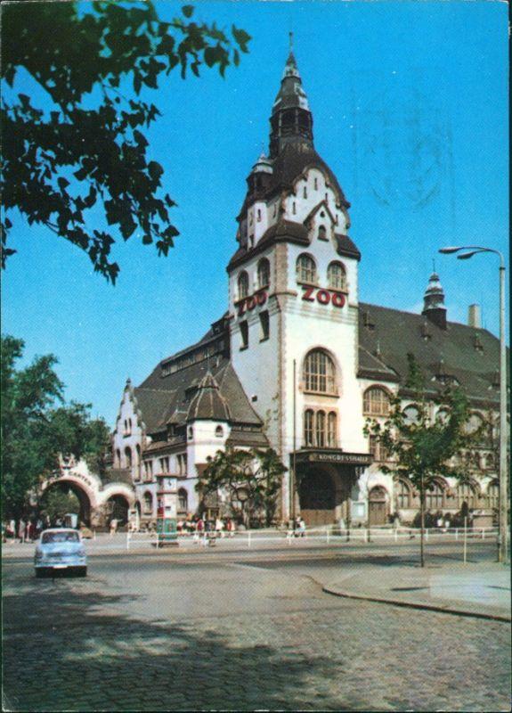 Ansichtskarte Leipzig Kongreßhalle Zoo g1971