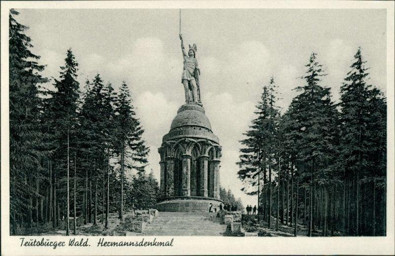 Ansichtskarte Hiddesen-Detmold Hermannsdenkmal 1951