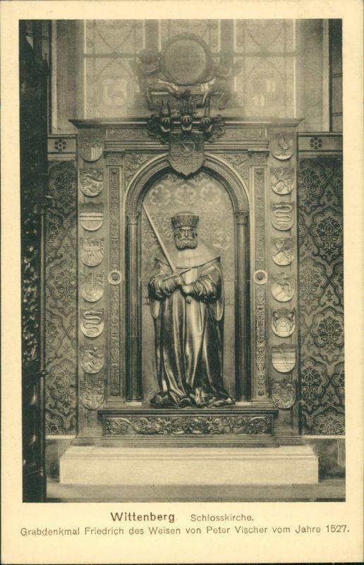Lutherstadt Wittenberg Evangelische Schloßkirche - Grabdenkmal 1917 0
