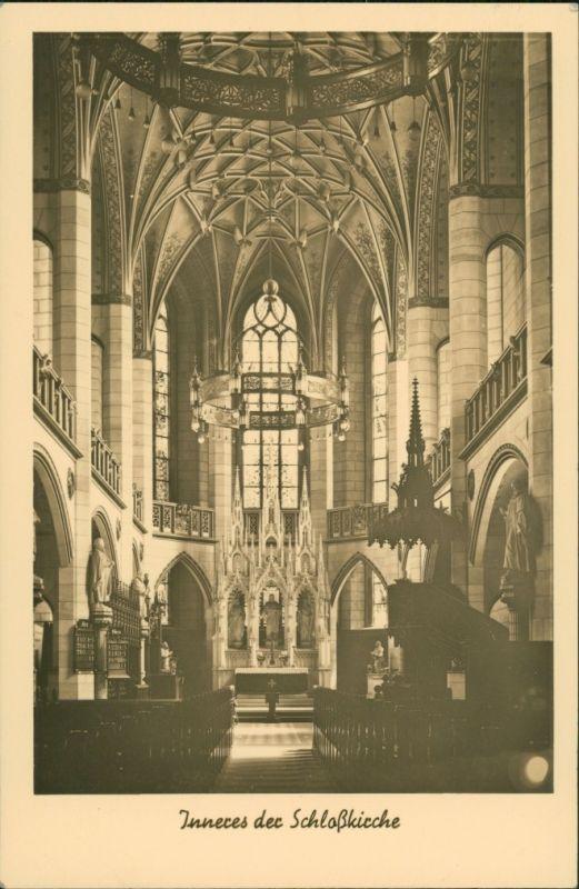 Ansichtskarte Lutherstadt Wittenberg Evangelische Schloßkirche - Altar 1929