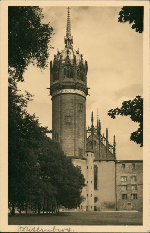 Ansichtskarte Lutherstadt Wittenberg Evangelische Schloßkirche 1943