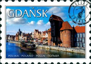 Danzig Gdańsk/Gduńsk Krantor/Krahntor mit Historischen Segelschiff 2017