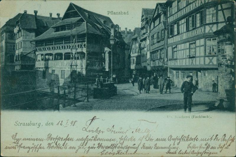 CPA Straßburg Strasbourg Pflanzbad 1898