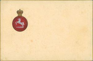 Deutschland Nec Aspera Terrent, Kurfürstentum Hannover, Pferd mit Krone 1903