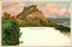 Litho AK Künstlerkarte: Gemälde / Kunstwerke - Hohenkrähen - Biese 1900