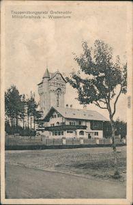 Grafenwöhr Truppenübungsplatz - Militärforsthaus u. Wasserturm 1911