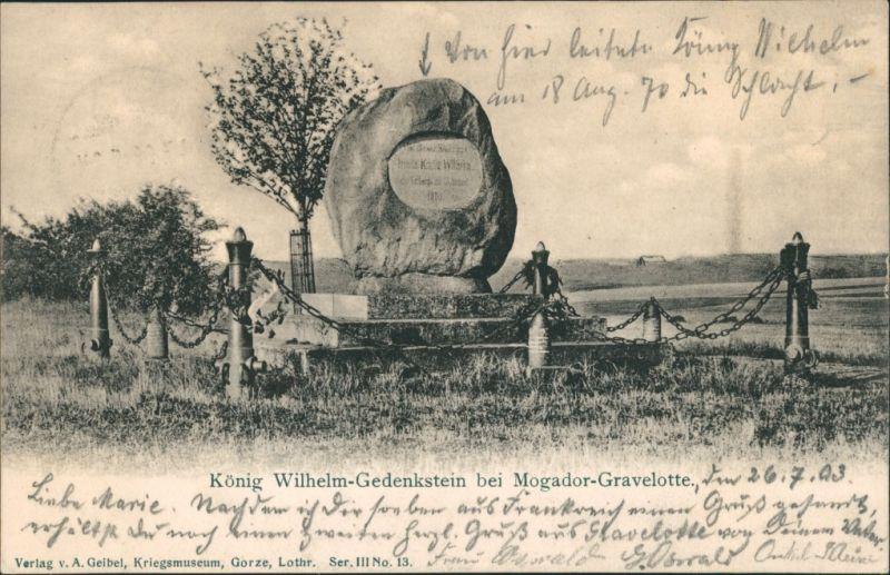 CPA Gravelotte König Wilhelm-Gedenkstein 1903